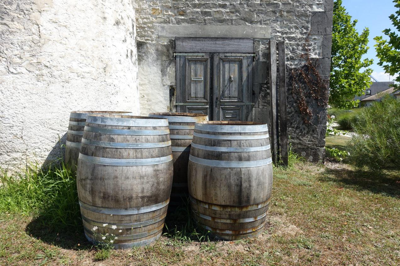 Cognac barrels