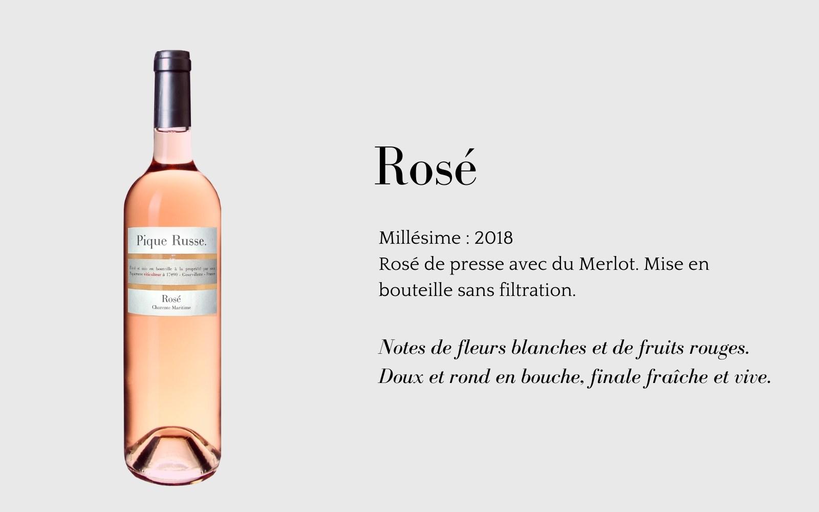 Rosé de Pique Russe