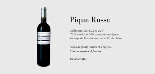 Pique Russe, un vin de Charente Maritime